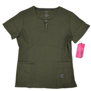 Koi Scrub Top 317-057 Olive Large